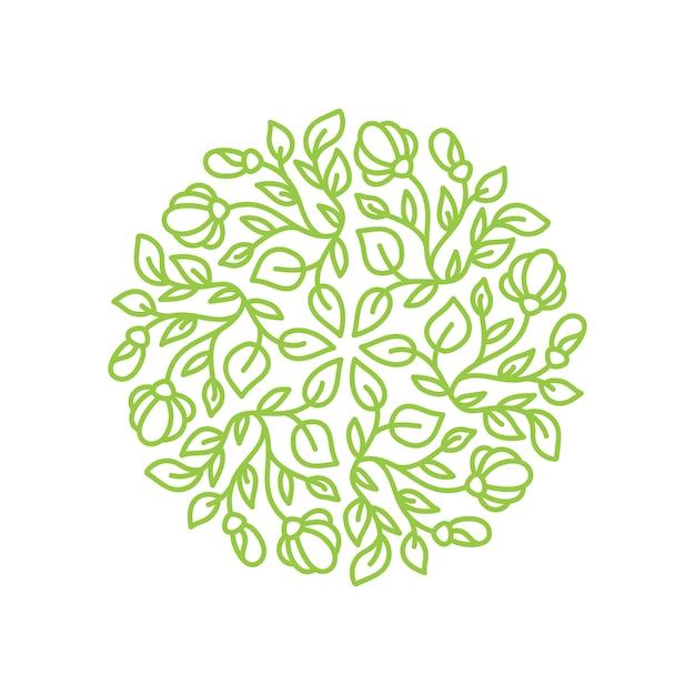 Logo flower Premium Vector