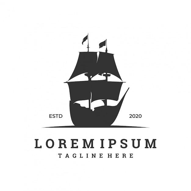 Логотип для парусной компании с силуэтом Premium векторы