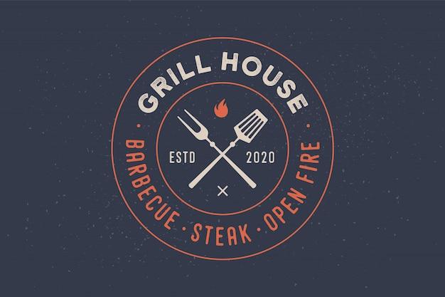 Logo for grill house restaurant Premium Vector