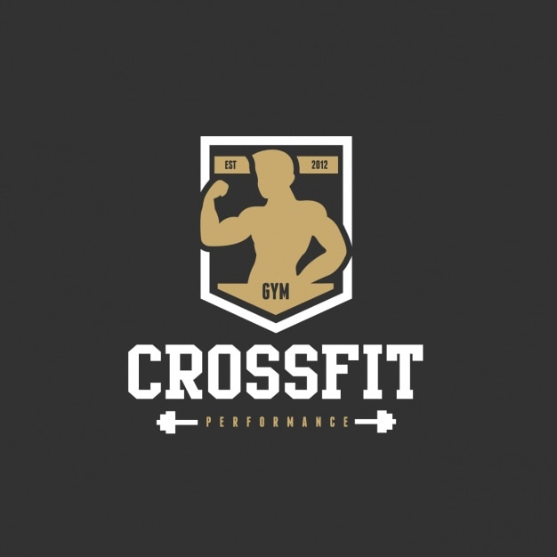 Logo for a gym Free Vector