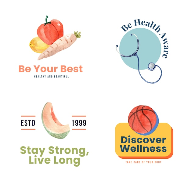 Logo or icon with world mental health day concept design Free Vector