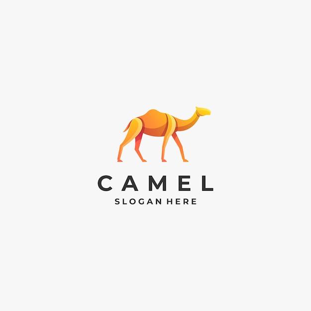 Логотип иллюстрация верблюд Premium векторы