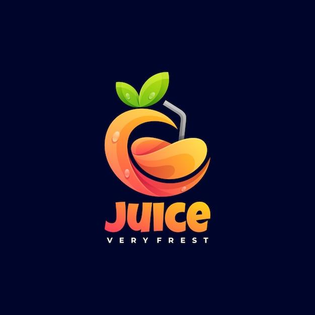 Logo illustration juice gradient colorful style. Premium Vector