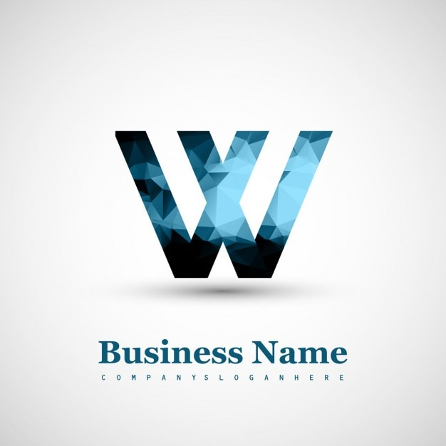 Logo of letter w Free Vector