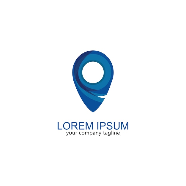 logo map icon gps modern vector premium download