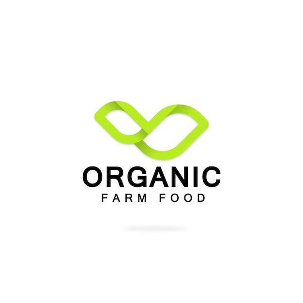 Logo organic Premium Vector