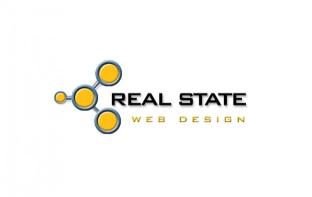 Logo real state web design Free Vector