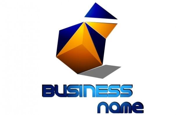 logo squares business name vector
