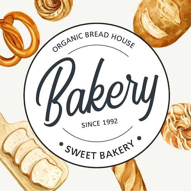 Logo symbol bakery template. Free Vector