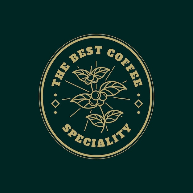 Logo template for coffee business Premium Vector