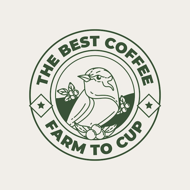 Logo template for coffee shop Premium Vector