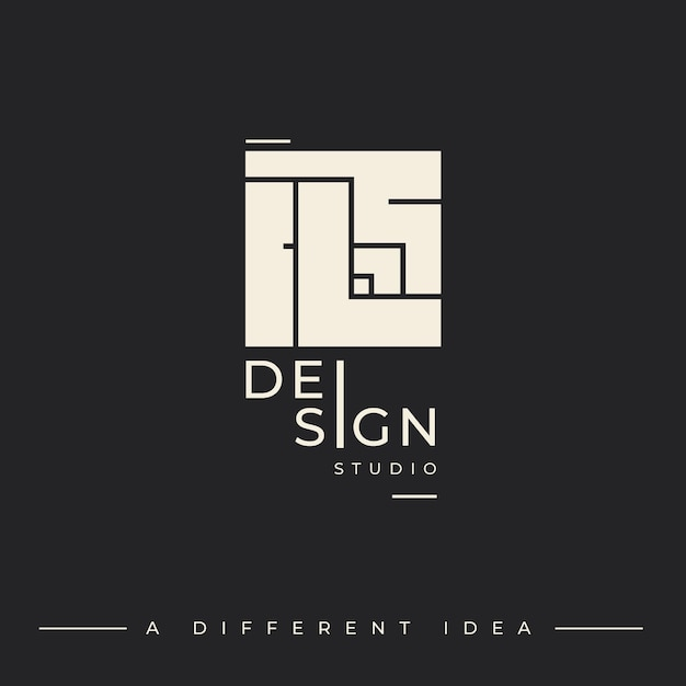 Logo template for design studio Free Vector