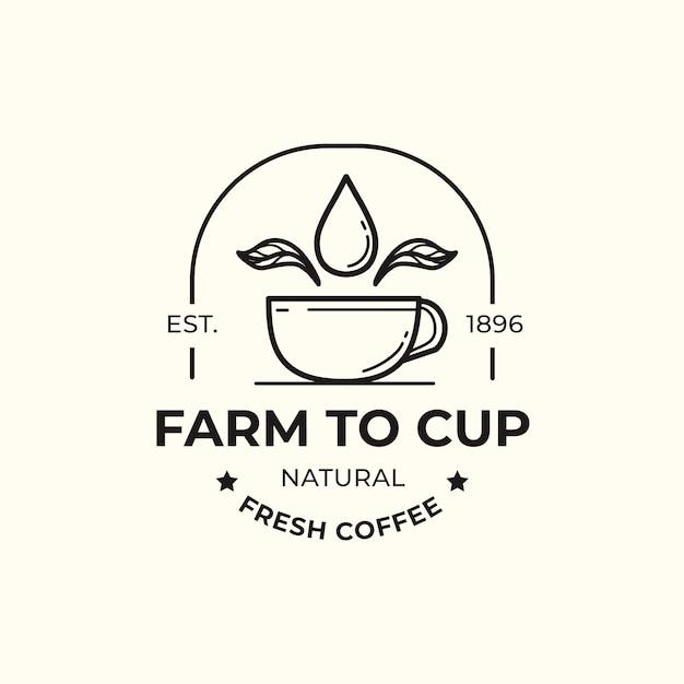 커피 비즈니스 디자인을위한 로고 템플릿 프리미엄 벡터