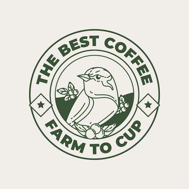 커피 숍 로고 템플릿 프리미엄 벡터