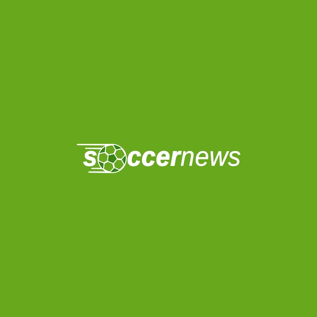 logo template for soccer sport news premium vector