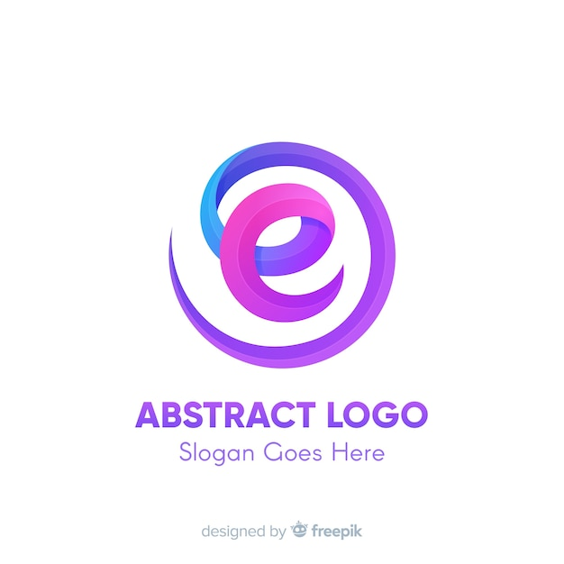 Logo template with abstract shapes Free Vector