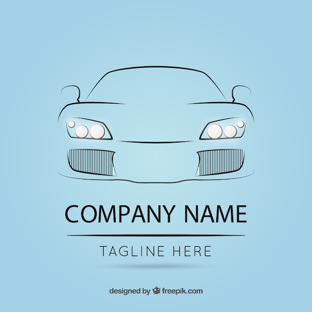 Logo template with car outline Free Vector