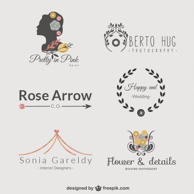 logo templates set vector free download