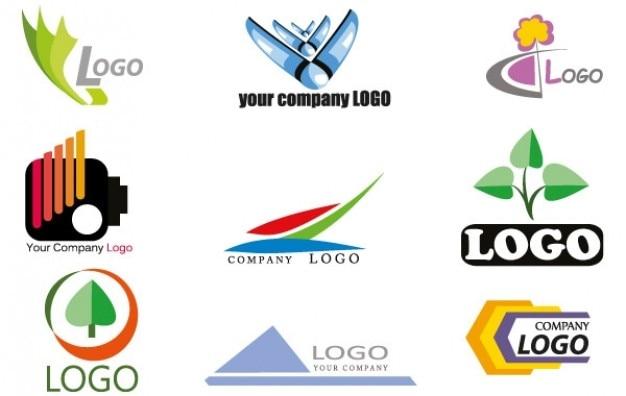 Logo various images company logo Free Vector