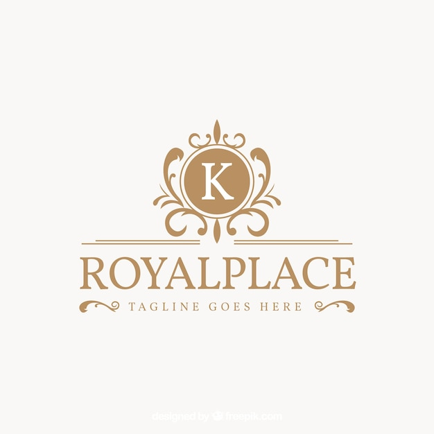Logo in vintage and luxury style Free Vector