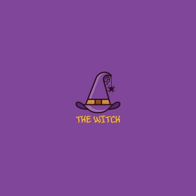 Logo with a witch hat Free Vector