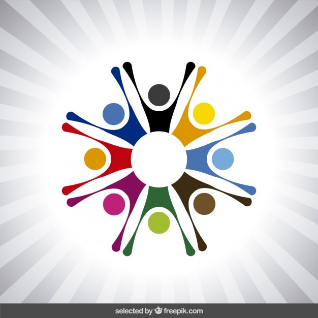 Logo With Abstract Human Avatars