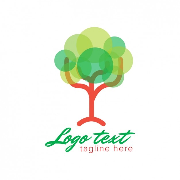 Logo with abstract tree made with circles Vector | Free ...