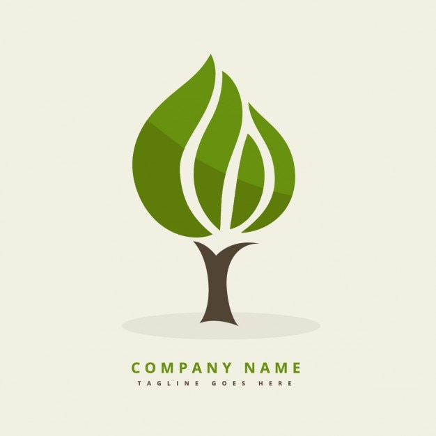 Logo with abstract tree Vector | Free Download