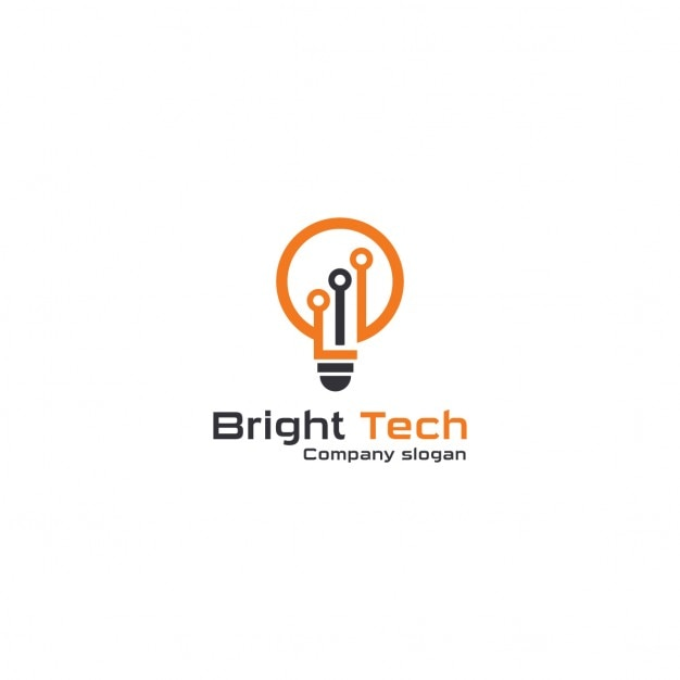 Logo with an orange light bulb vector free download for Logo suggestions free