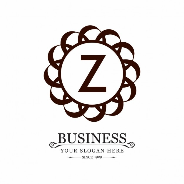logo with an ornamental frame and the letter z