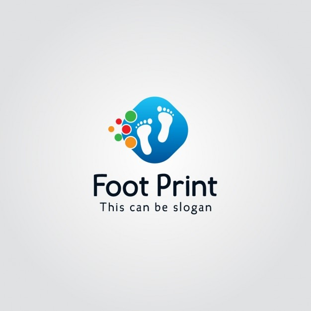 Logo with feet Free Vector
