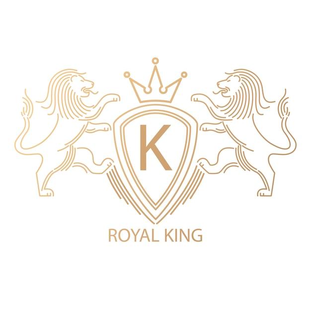 Logo with lions. Premium Vector