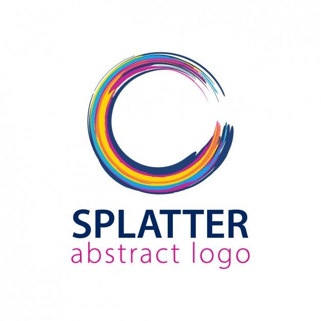 Elegant Ornamental Logo With The Letter S: Logo With Rounded Splatter Shape Vector