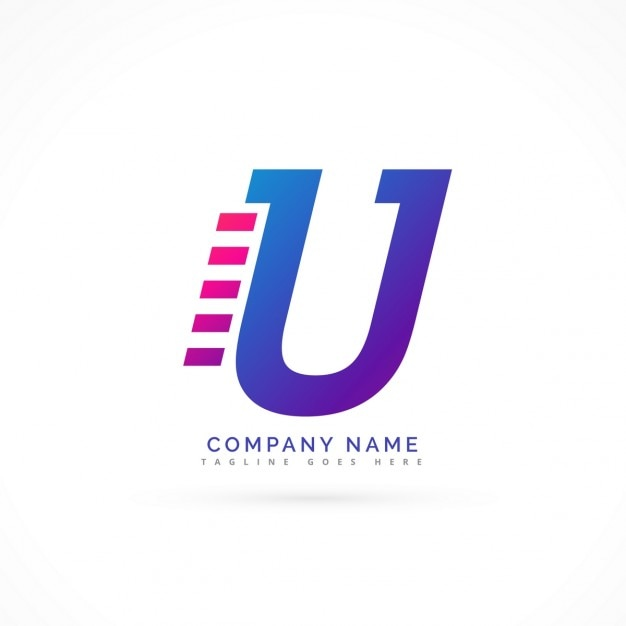 Logo with the letter u Vector