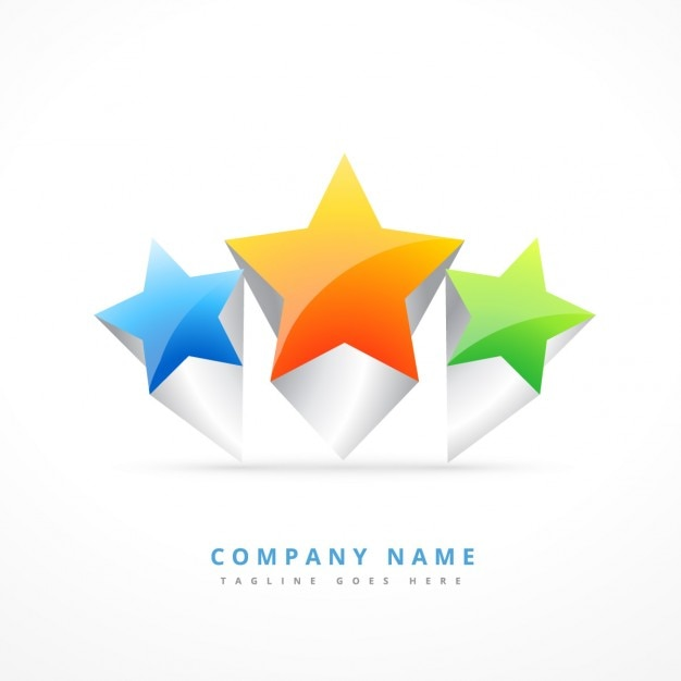 Logo With Three Stars Vector Free Download