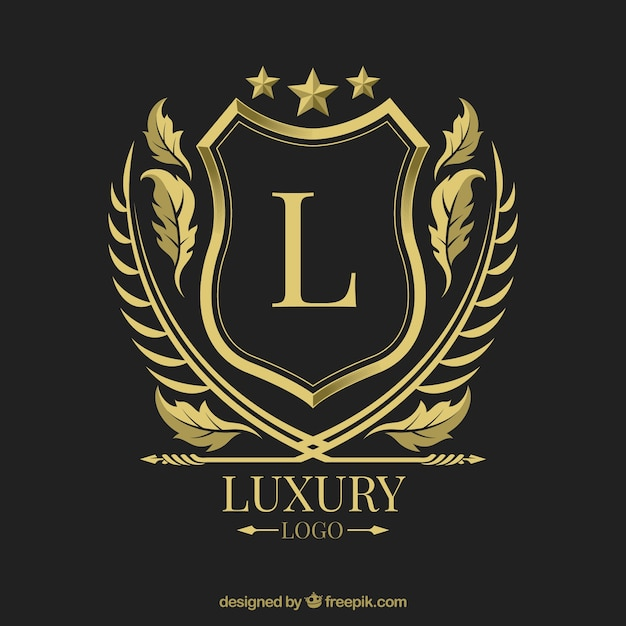 Logo with vintage and luxury style Free Vector