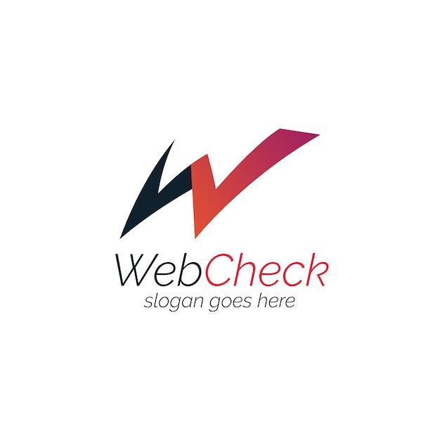 Logo with web design Free Vector