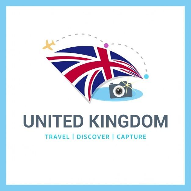 Великобритания путешествия logo Бесплатные векторы