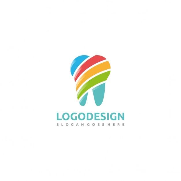 Красочные стоматологический logo Бесплатные векторы