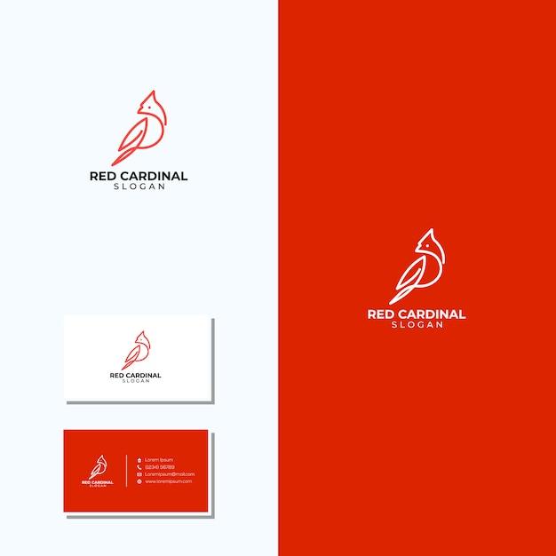 素晴らしいラインアートの枢機logoのロゴと名刺 Premiumベクター