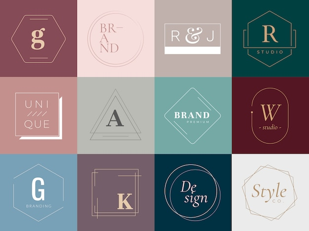 Logos and badges Free Vector