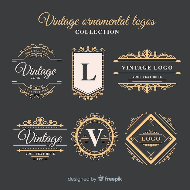 Logos business marketing publicity template Free Vector