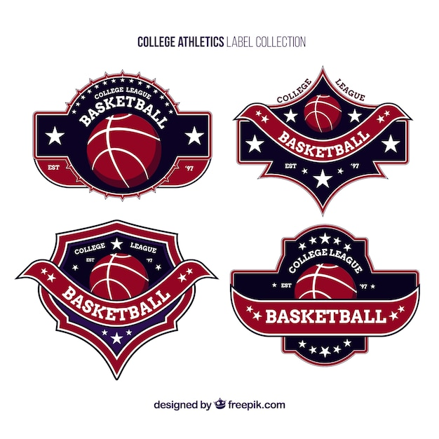Logos For College Basketball Teams Free Vector
