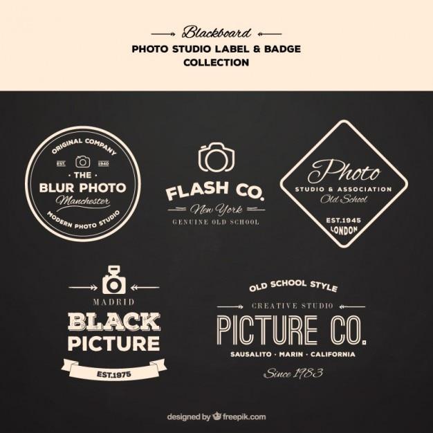 Logos For Photography Topics Vector