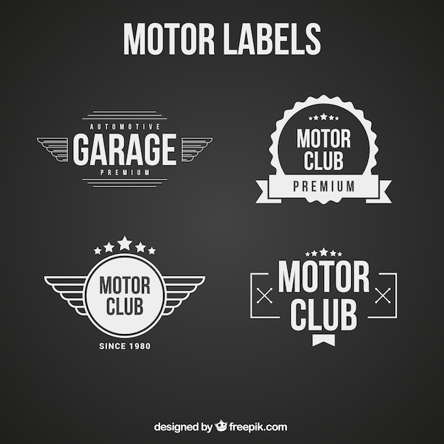 Logos in black and white for a motorcycle\ club