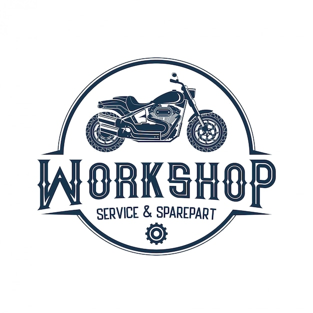 Logos for motorbikes, workshops and custom Premium Vector