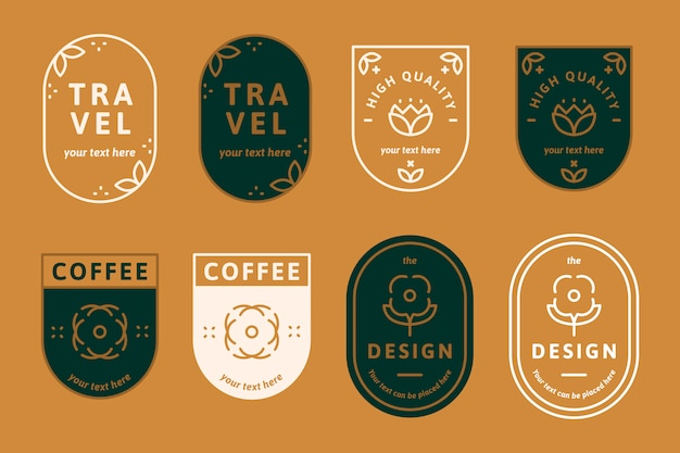 Logos on orange Free Vector