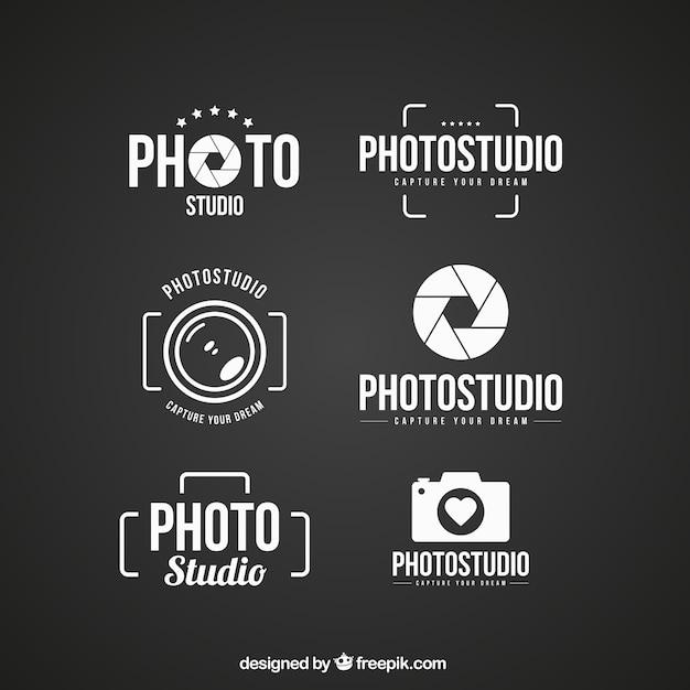 Logos of photo studio Premium Vector
