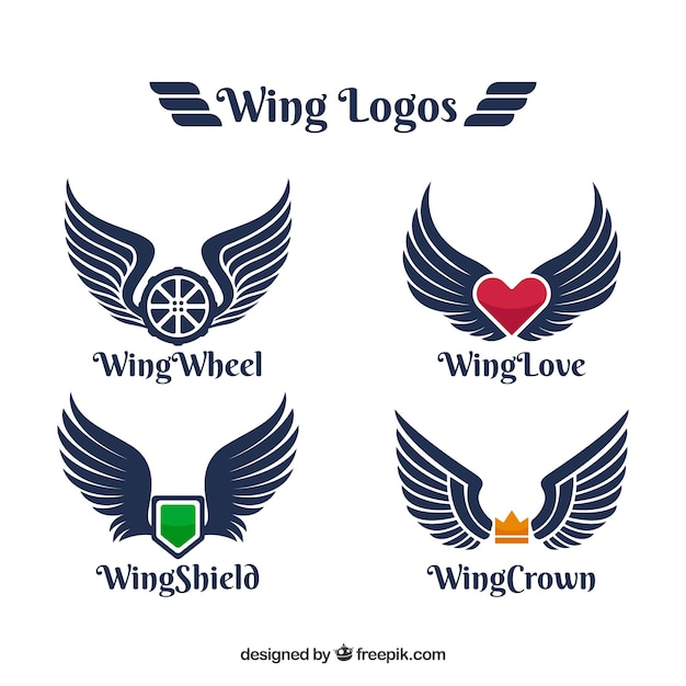 logos with color element and wings vector free download rh freepik com wing logistics wing logistics france