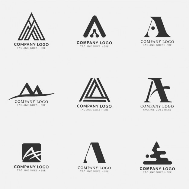 Logos with the letter a, collection Vector | Free Download